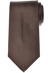 Luigi Borrelli Napoli Tie Silk 59 x 3 3/8 Brown Solid 05TI0412