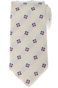 Luigi Borrelli Napoli Tie Silk 59 1/4 x 3 3/8 Blue Pink Geometric 05TI0426