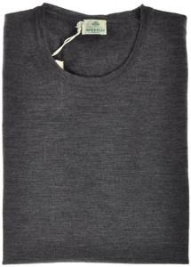 Luigi Borrelli Sweater Crewneck Wool 56 XXLarge Gray 05SW0114