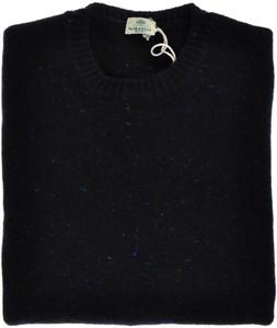 Luigi Borrelli Sweater Crewneck Wool Cashmere 56 XXLarge Blue 05SW0112