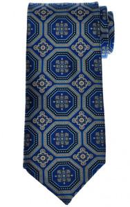 Stefano Ricci Tie Silk 62 x 3 1/2 Blue Black Geometric 13TI0567