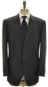 Brioni Suit 'Parlamento' Luxury 150's Wool 46 56 Gray Stripe 03SU0126
