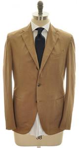 Boglioli 'Coat' Suit 3B Cotton Stretch 44 54 Brown Solid 24SU0109