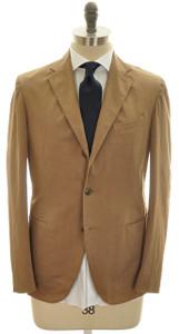 Boglioli 'Coat' Suit 3B Cotton Stretch 42 52 Brown Solid 24SU0108