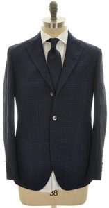 The GIGI Suit 'Degas' (Boglioli) 3B Wool 40 50 Blue Plaid 51SU0101