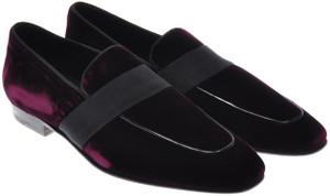 Max Verre Napoli Shoes Velvet Loafers 9.5 UK 10.5 US Purple 15SH0014