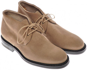 Di Mella Chukka Boots Suede Leather Cashmere Lined 8 UK 9 US Brown 52SO0102