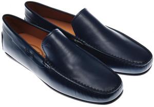 Tod's Shoes Pantofola City Gommino Leather 8 UK 9 US Dark Blue 31SO0112