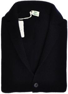 Luigi Borrelli Sweater Cardigan Sport Coat Wool 48 Small Blue 05SW0121