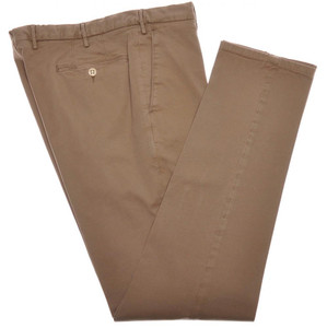 Boglioli Pants Cotton Twill Stretch 32 48 Washed Brown 24PT0101