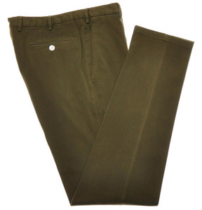 Boglioli Pants Cotton Stretch Twill 34 50 Washed Green 24PT0112