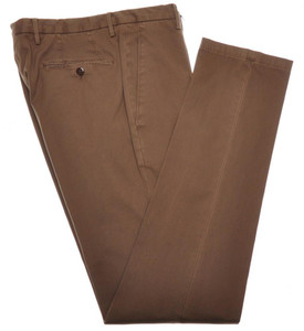 Boglioli Pants Micro-Rib Cotton Stretch 36 52 Washed Brown 24PT0110