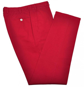 Boglioli Pants Cotton Linen 40 56 Washed Red 24PT0134