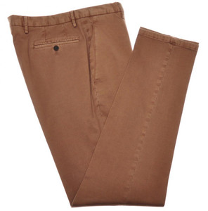 Boglioli Pants Cotton Stretch Twill 32 48 Washed Brown 24PT0119