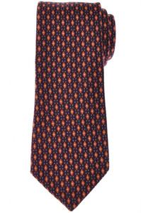 Cesare Attolini Silk Tie 59 1/2 x 3 3/8 Purple Orange Geometric 09TI0200