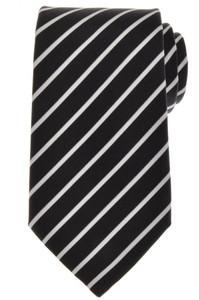 Ermenegildo Zegna Tie Silk Cotton 58 1/4 x 3 3/8 Gray White Stripe 10TI0189