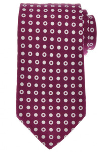 Ermenegildo Zegna Tie Silk 58 1/2 x 3 1/4 Plum Purple Geometric 10TI0187