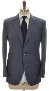 Belvest Suit 3B 110's Wool 40 50 Blue Stripe 50SU0119
