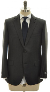Belvest Suit 2B 120s Wool 36 46 Dark Gray Solid 50SU0132