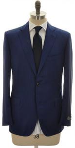 Belvest Suit 2B 130's Wool 44 54 Blue Stripe 50SU0128