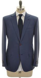 Belvest Suit 2B 100% Cashmere 40 50 Blue Solid 50SU0133