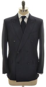 Belvest Suit DB 150's Wool 40 50 Blue Red Stripe 50SU0134