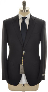 Canali 1934 Suit Trim Fit 2B Water Resistant Wool 42 52 R8 Blue 25SU0150