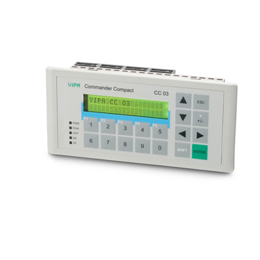 603-1CC21 - Commander Compact, MPI, 128KB, 2x20 Display, 16KB PLC, 16DI, 16DO