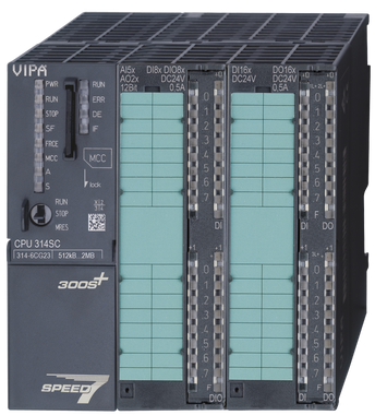 VIPA 314-6CG23 | CPU314SC/DPM, SPEED7, 512KB, 24DI, 16DO, 8DIO, 4AI