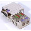 ModbusRTU/ASCII D-Sub Bus Connector w/ LEDs - 90 Degrees