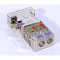 ModbusRTU/ASCII D-Sub Bus Connector w/ LEDs - 0 Degree