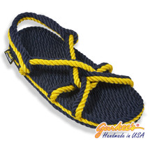 Signature Barbados Blue & Gold Rope Sandals