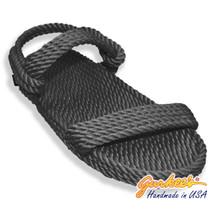 Classic Montego Black Rope Sandals