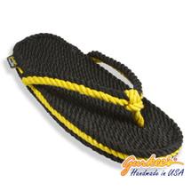 Signature Tobago Black & Gold Rope Sandals