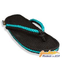 Signature Tobago Black & Teal Rope Sandals
