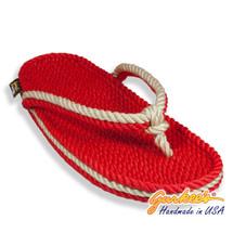 Signature Tobago Red & Natural Rope Sandals