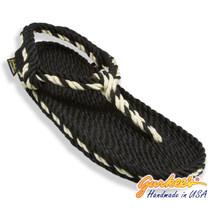 Signature Trinidad Black & Natural Rope Sandals
