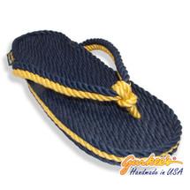 Signature Tobago Blue & Gold Rope Sandals