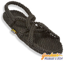 Classic Barbados Charcoal Rope Sandals