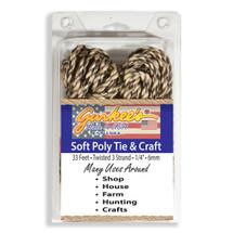 """Soft Poly Craft Rope Camo 33' (1/4""""/6mm) FREE SHIP"""