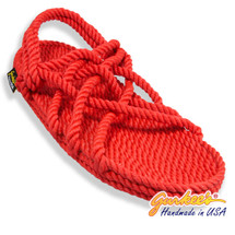 Classic Neptune Red Rope Sandals