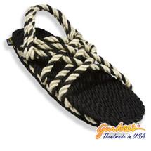 Signature Neptune Black & Natural Rope Sandals