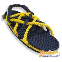 Signature Neptune Blue & Gold Rope Sandals