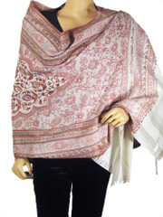 Wool Shawl Throw Blanket Embroidered Traditional Indian Evening Wrap Dress Scarf
