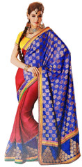 Trendy Exclusive Designer Sari Blue Zari Saree Designer Dress Indian Outfit