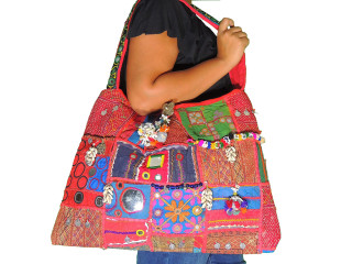 Kutch Artisan Handmade Mirror Bohemian Stylish Sling Messenger Bag