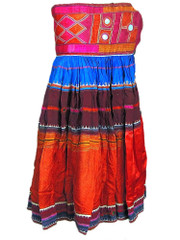 Tribal Belly Dance Outfit Boho Gypsy Embroidered Belt Vintage Banjara Skirt S
