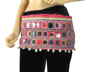 Banjara Wide Tribal Rare Textile Kuchi Belly Dance Belt