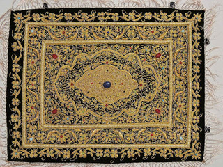 Zardozi Jewel Carpet – Handmade Wall Decoration with Traditional Stone Work