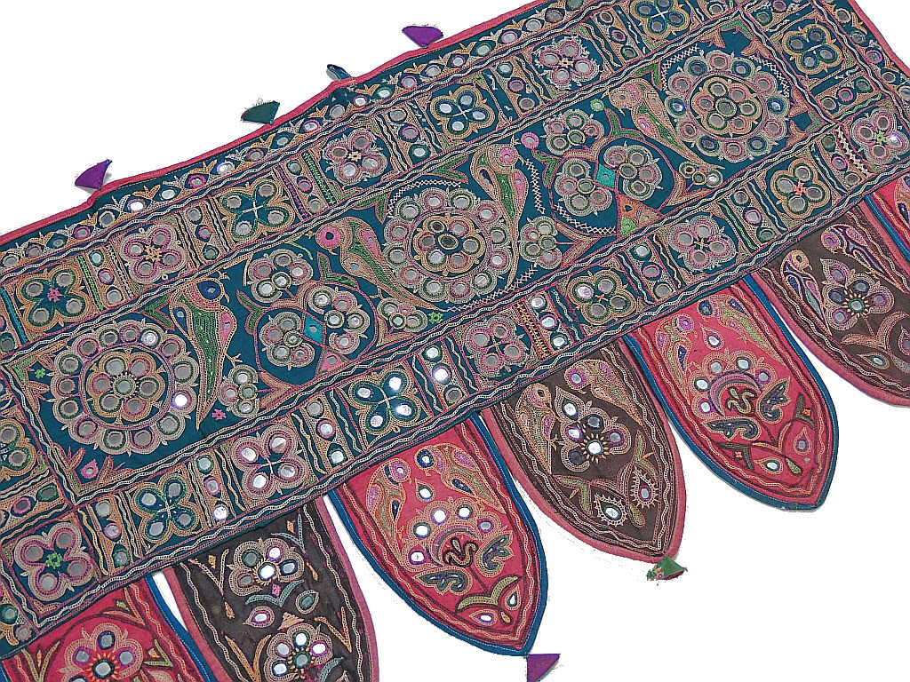Decorative Door Toppers U2013 Unique Handmade Vintage Embroidered Valance From  India.